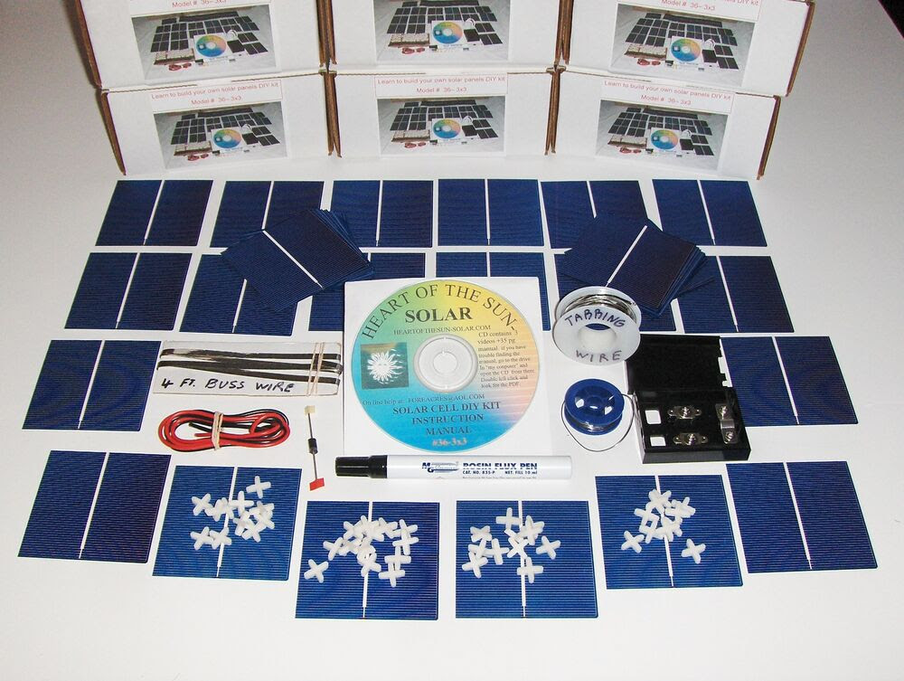 Detail how to build your own solar panel kit wind solar make build your own solar cells panels diy kit awesome for first time build solutioingenieria Choice Image