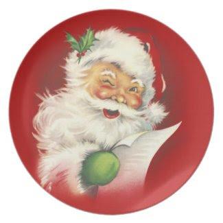 Santa Vintage Plate