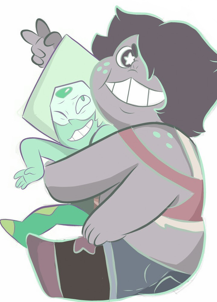 Big fluff cocopuff with the little green meepmorp queen @goopy-amethyst