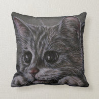 Drawing of Kitten on Pillow