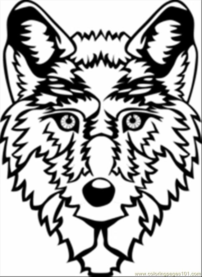 Coloring Pages Wolf Head (Animals > Wolf) - free printable ...