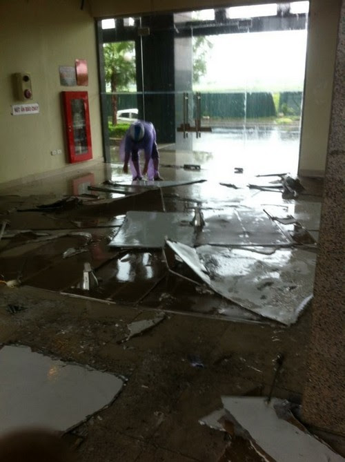 bão số 1, chung cư đối phó mưa bão