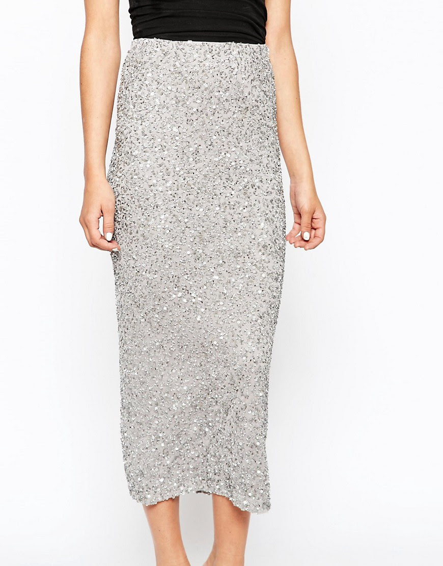 Image 3 of River Island Sequin Maxi Skirt