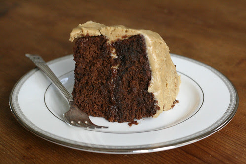 Rich Chocolate Cake with Salted Caramel Frosting