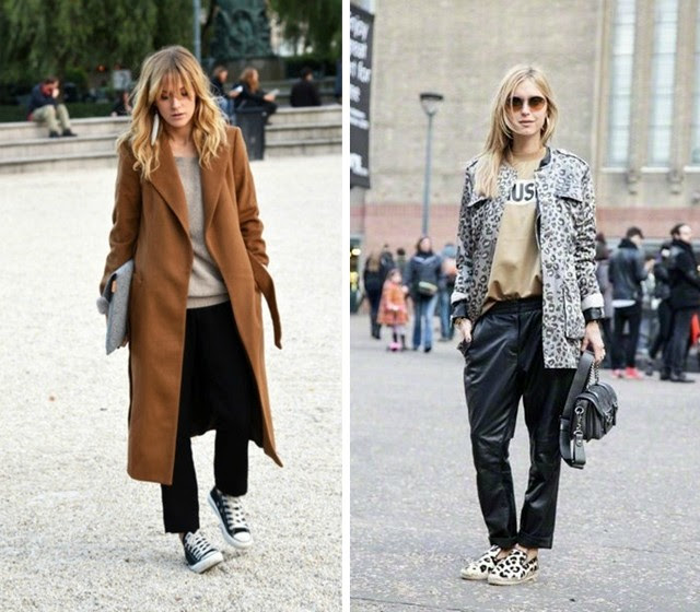 oversized coat leopard print black slouchy fashion blogger turn it inside out belgium 2014 fall winter