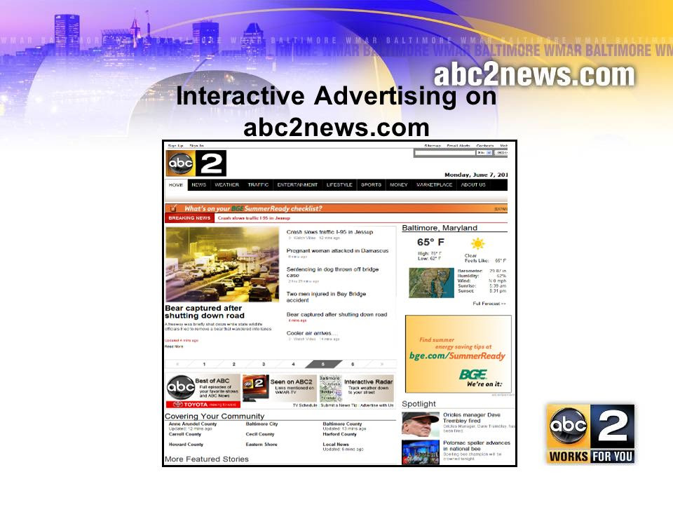 Interactive Advertising on abc2news.com - ppt download