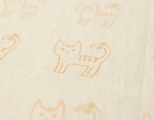 Stamp on fabric