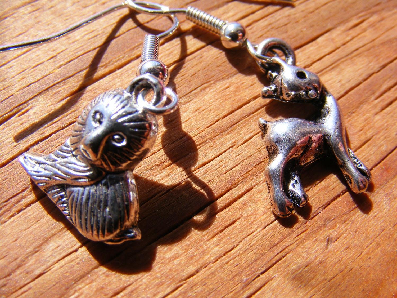 Earrings Silver Lion & the Lamb