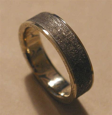 groom, mens wedding band, made from a meteorite, out of