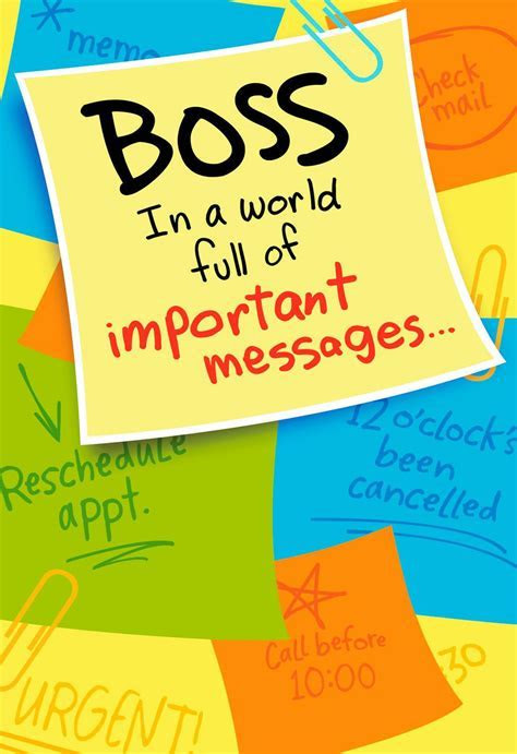 Important Memo Boss's Day Card   Greeting Cards   Hallmark