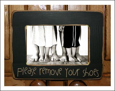 all crafts Remove The Shoes! {10 Creative Signs For Guests}