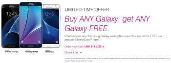 Deal: T-Mobile lets you buy any Samsung Galaxy phone, and get a second one for free