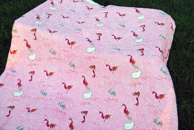 Kiley's custom quilt back