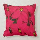Christmas Poinsettia Pillows