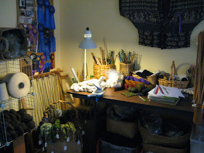 Work table in studio
