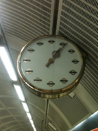 Bethnal Green Tube clock by JazCummins