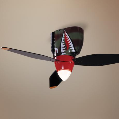 "48"" WarPlanes Collection Tiger Shark Ceiling Fan"
