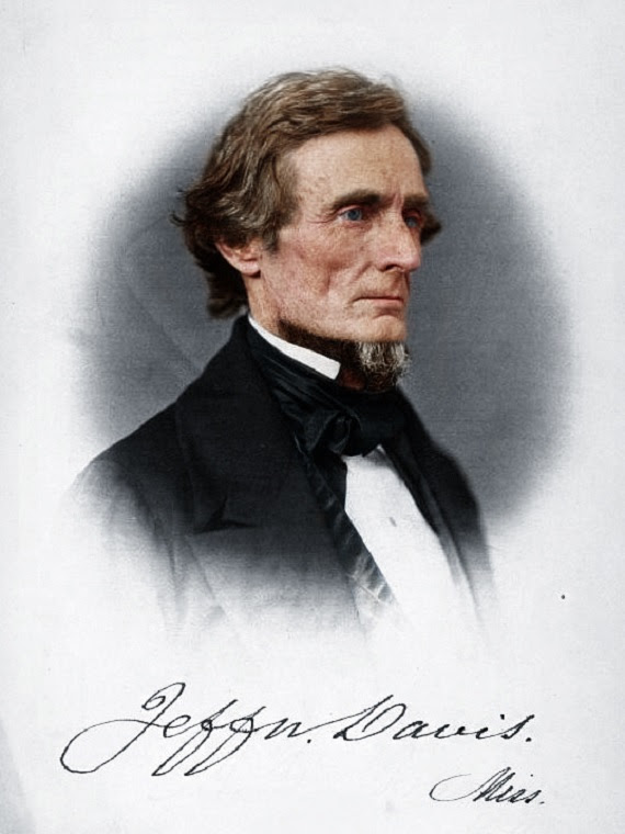 jefferson davis colorized