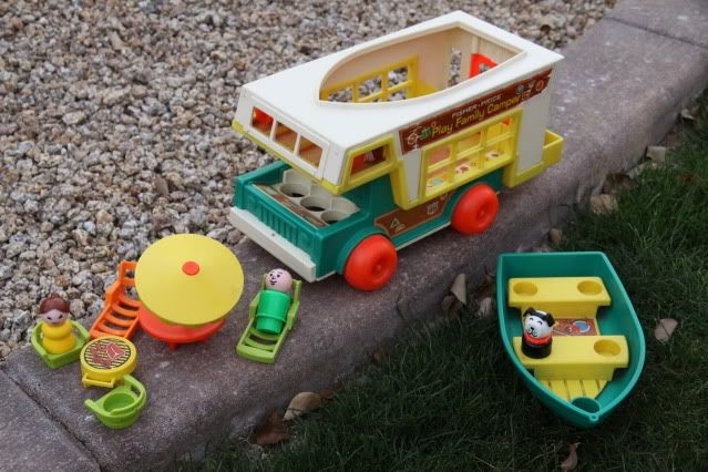 Anne 39 s odds and ends fisher price fridays play family for Chaise 4 en 1 fisher price