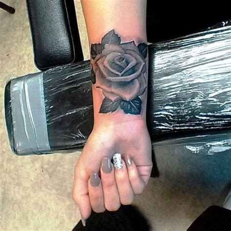 awesome black rose tattoos wrist