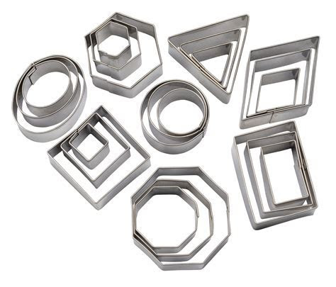 Geometric Shapes Assorted Sizes, 24 Piece Set   Cutters
