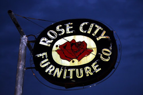 rose city furniture co. neon sign