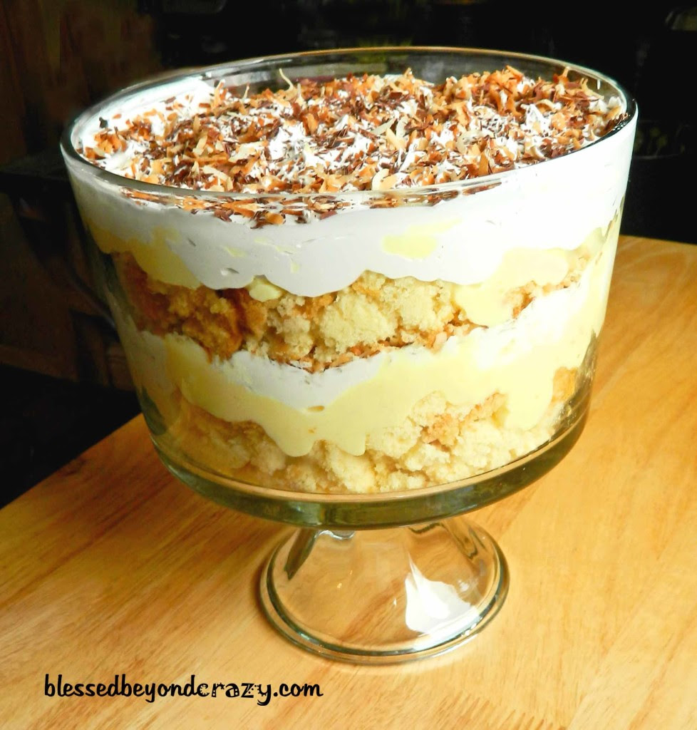 2 Gluten Free Trifles: Chocolate or Coconut Cream