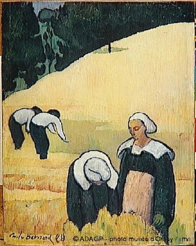 La moisson, Emile Bernard , 1888