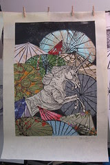 Unicorn Amongst Umbrellas I