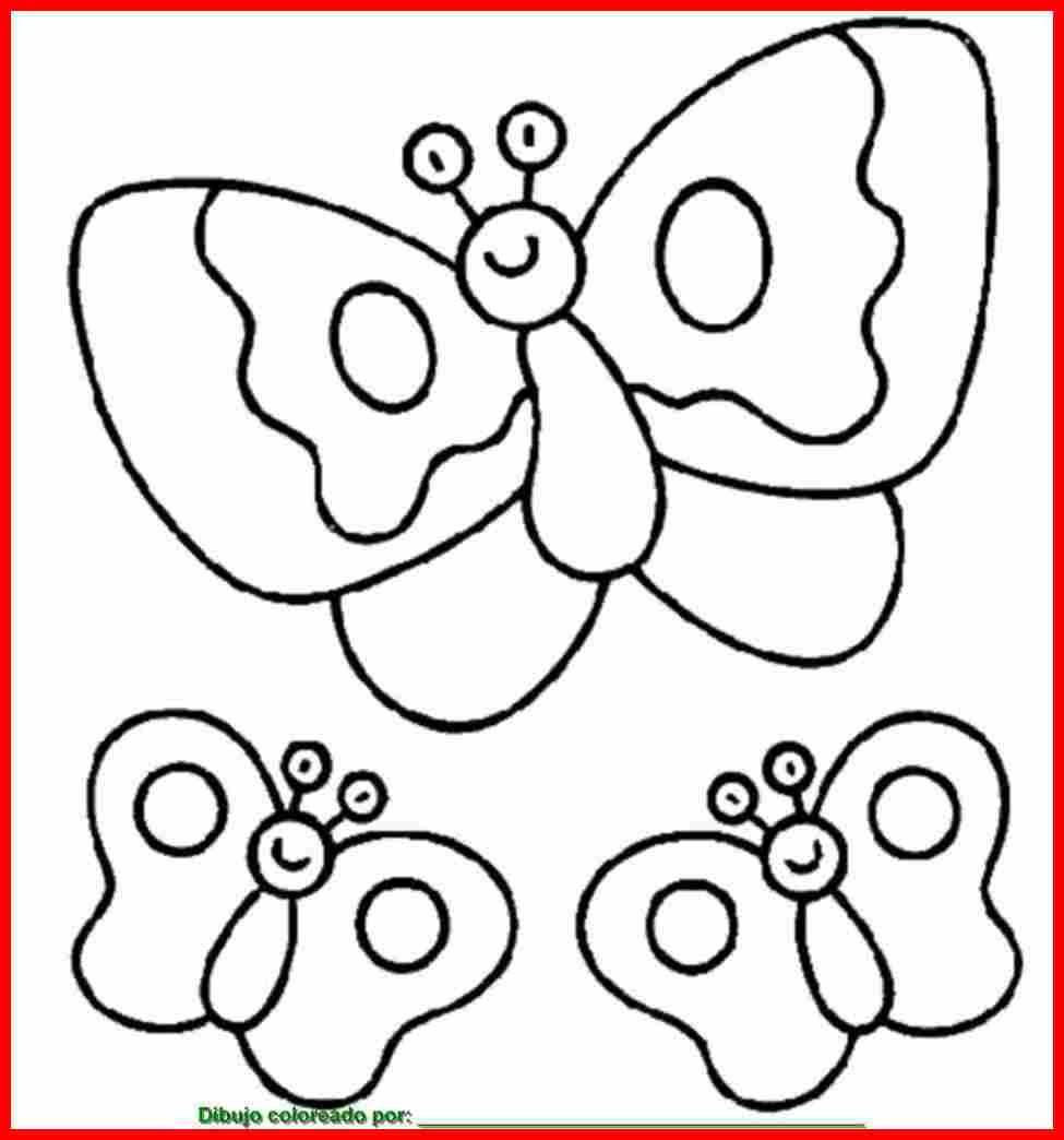 Dibujo De Mariposas Para Colorear E Imprimir