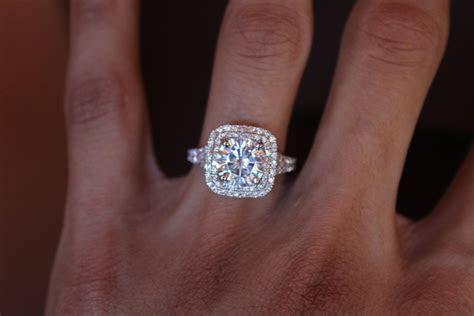 2.50 Carat (8.5mm) Forever ONE Moissanite Engagement Ring