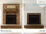 Easy Brick Fireplace Makeovers