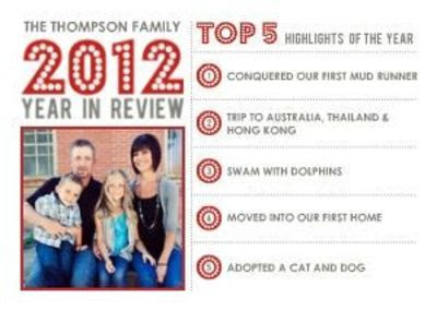 Mixbook Modern Year In Review Christmas Cardthis Is Cool