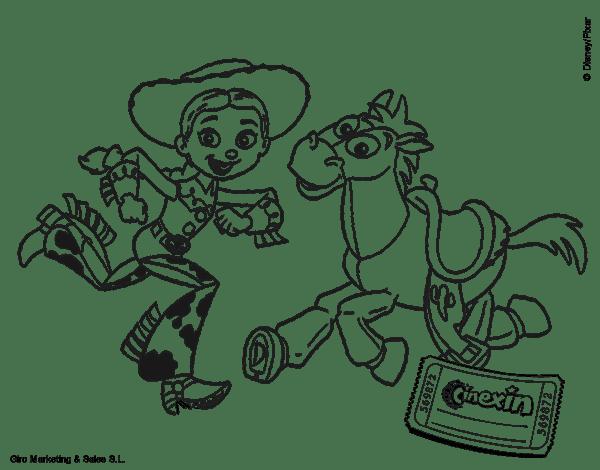 Toy Story Woody Y Tiro Al Blanco Para Colorear Imagui
