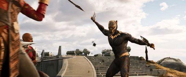 The suit worn by Erik Killmonger (Michael B. Jordan) in BLACK PANTHER.