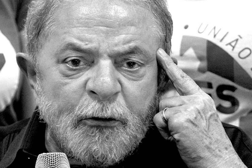 Luiz Inácio Lula da Silva durante una conferencia, el 4 de marzo, en San Pablo, Brasil. Foto: Nelson Almeida, Afp