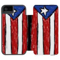 Puerto Rican Flag Case Incipio Watson™ iPhone 5 Wallet Case