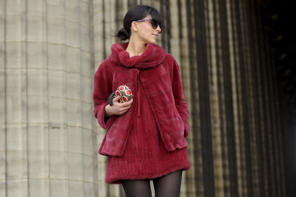 Paris Fashion Week & Un completo rosso fragola