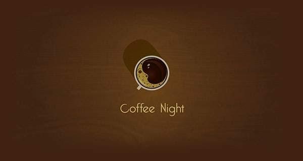 La espuma del café forma una luna con un ojo.