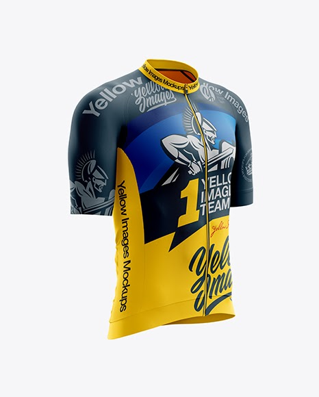 Download Free Men's Cycling Speed Jersey mockup (Right Half Side ...