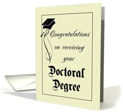 Graduation   Doctoral Degree card (412131)