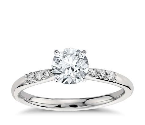 Petite Diamond Engagement Ring in Platinum (1/10 ct. tw