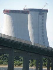 Cooling towers at Brayton Point Power Station, Somerset, MA
