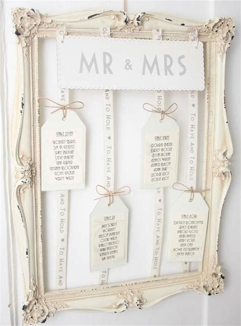 How to make your own vintage style table plan   Wedding