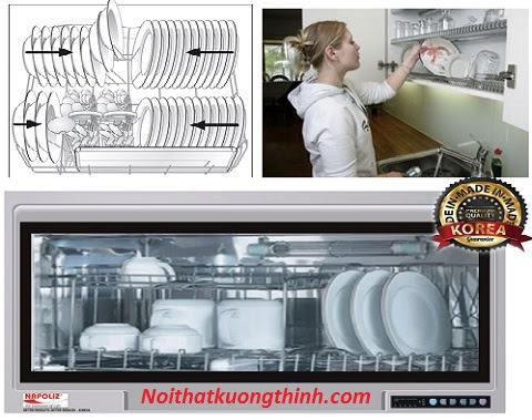 Cách lắp đặt và một số lưu ý khi sử dụng máy sấy bát Napoliz NA 820D