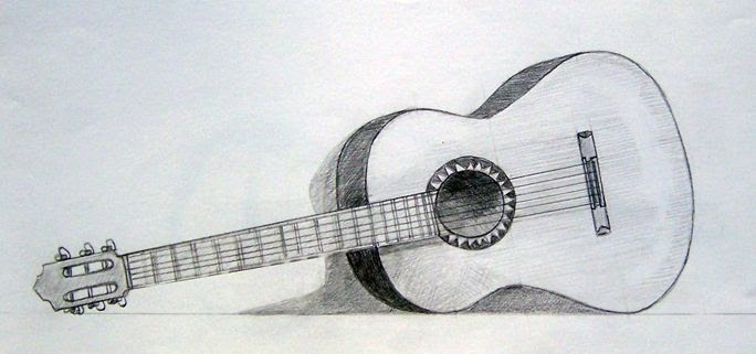 35 Ideas For Realistic 3d Guitar Drawing