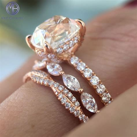 Rose Gold Ring Stack   i now have a dream wedding thanks