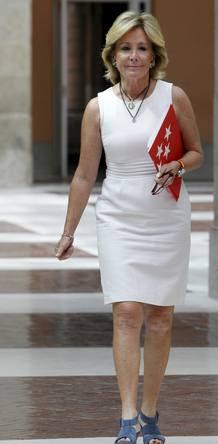 Esperanza Aguirre, antes de comunicar su dimisión