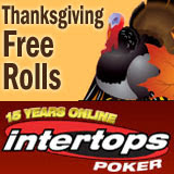 Intertops Poker Hosting 5 Thanksgiving Free Rolls This Weekend - Reload Bonus