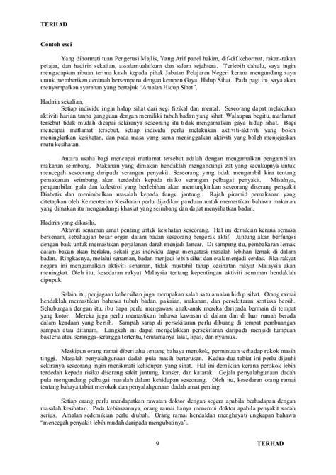 format  contoh penulisan esei berformat